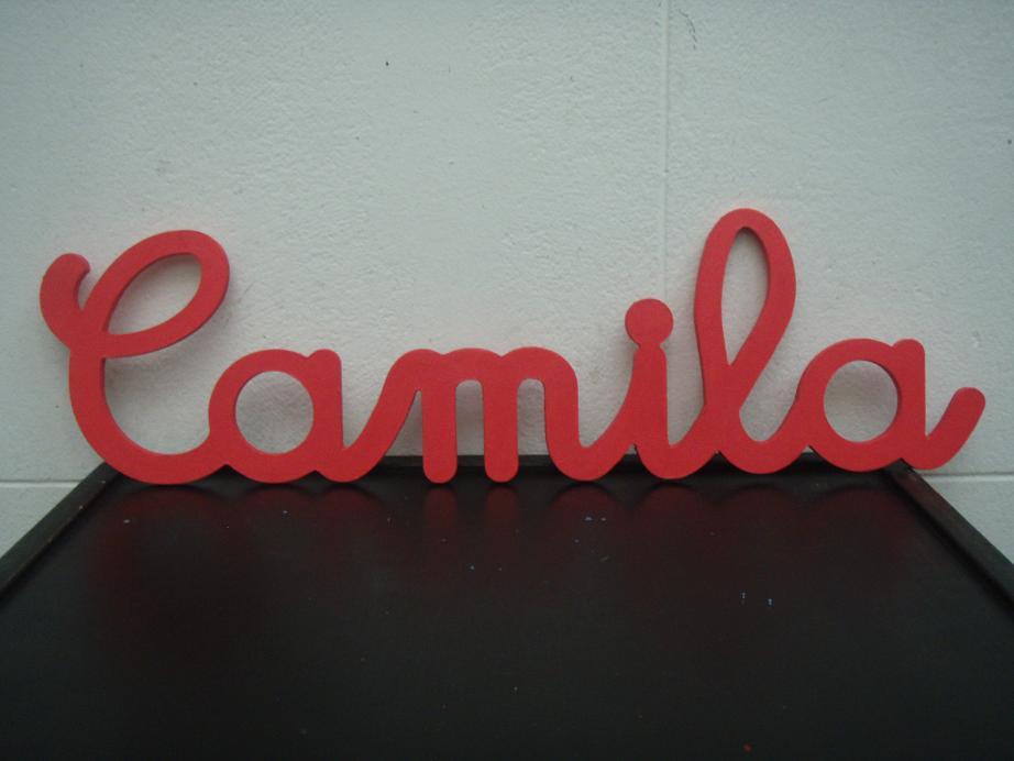 letras y formas en madera diseo y corte cnc con nombre