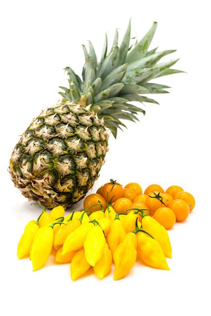 Beni Highland čili, sladki paradižniki in ananas