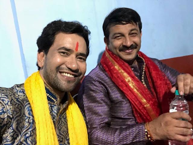 Dinesh Lal Yadav 'Nirahua' is a Bhojpuri movie singer, actor,