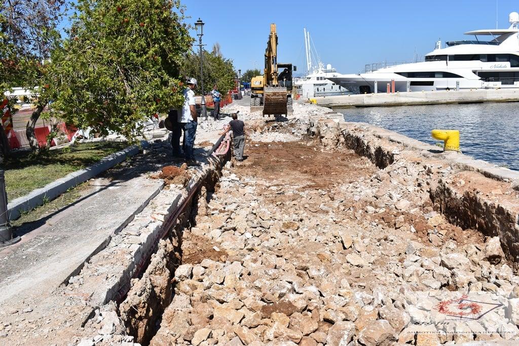 Ξεκίνησε το έργο ενίσχυσης των κρηπιδωμάτων του λιμανιού της Πρέβεζας