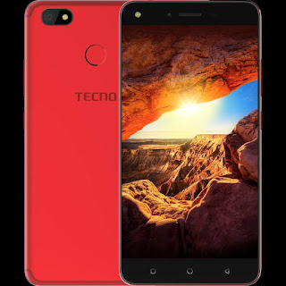 Tecno spark K7 red and black