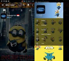 Screenshot BBM MOD kartun Minnion