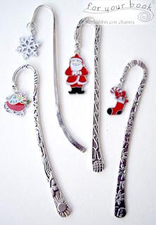 regalo Natale originale segnalibro metallo