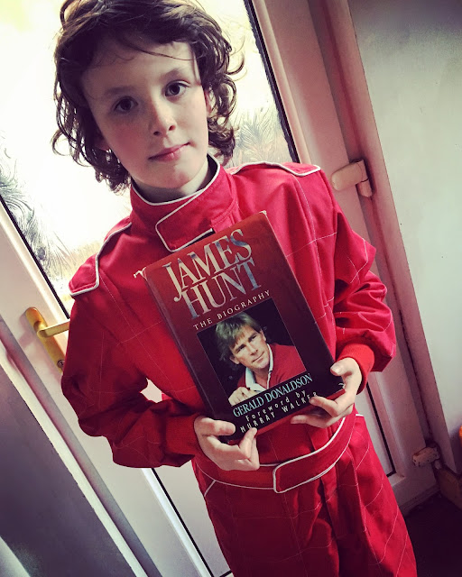 World Book Day biography edition, Boy as James Hunt