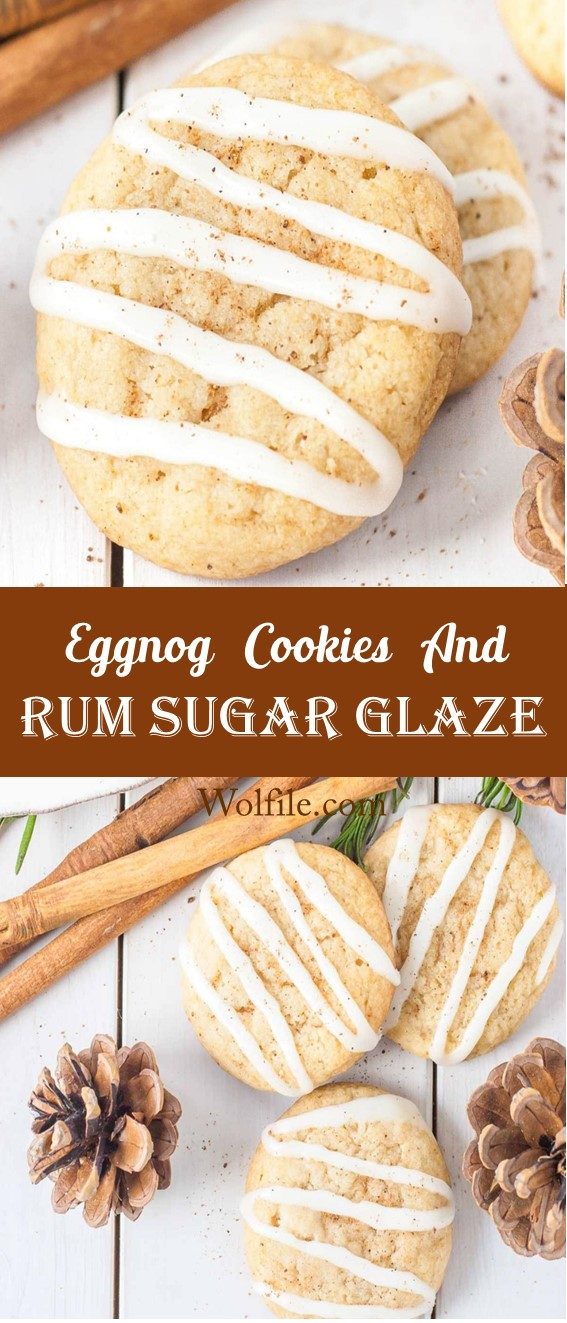 Eggnog Cookies And Rum Sugar Glaze Recipe