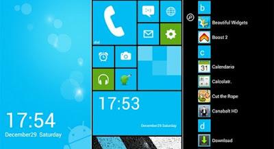 Cara Merubah Tampilan Android Menjadi Windows Phone Tanpa Root
