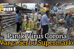 Warga Serbu Supermarket