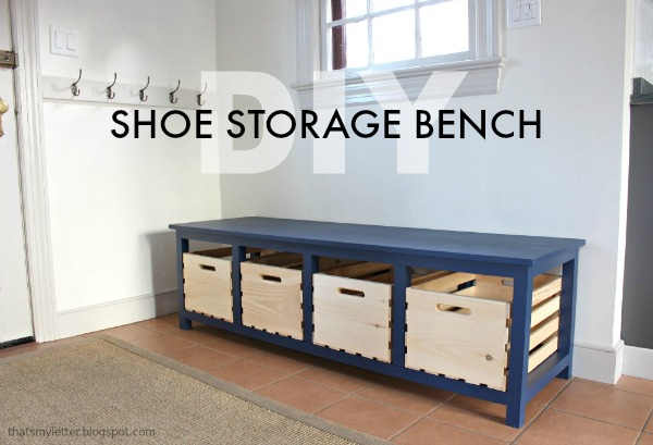 That's My Letter: DIY Shoe Storage Bench