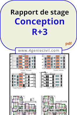 bâtiment R+3  Conception et calcul structure béton armé