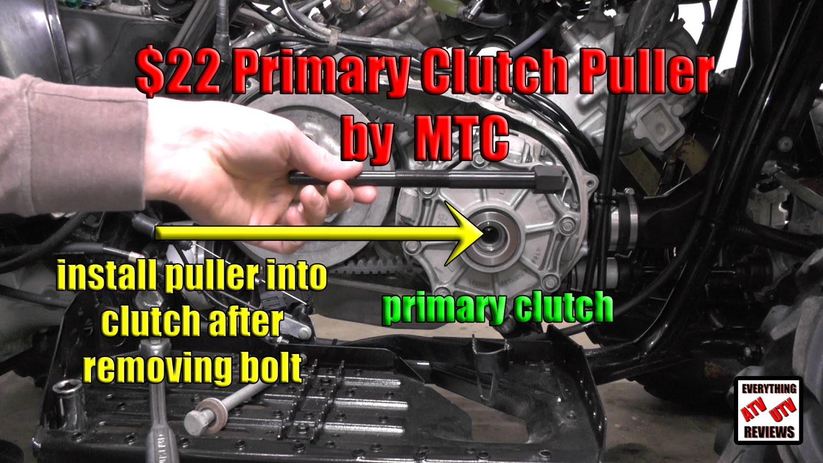 EVERYTHING ATV UTV REVIEWS: Primary Clutch Puller Tool to change