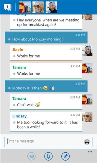 BBM WP Chat screen