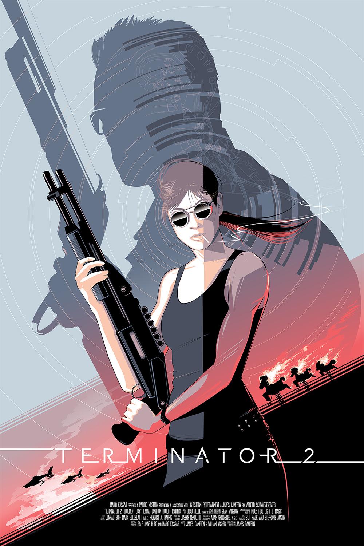 The Blot Says...: Terminator 2 Movie Poster Screen Print ...