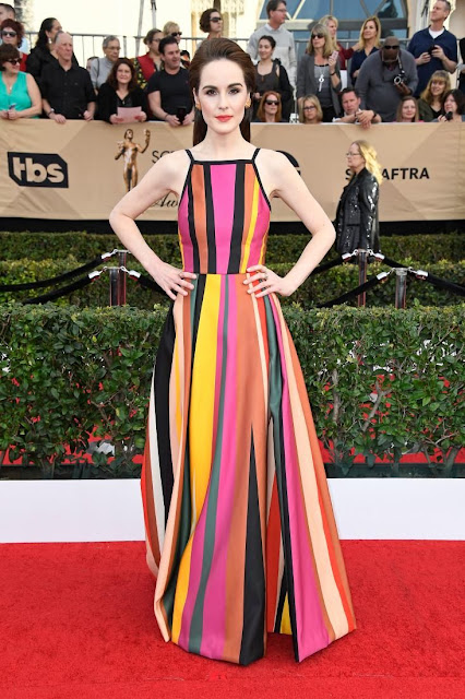 Michelle Dockery in Elie Saab