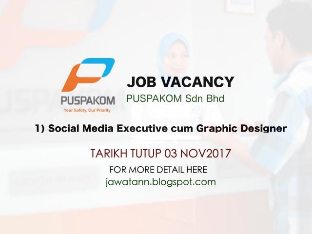 Job Vacancy at PUPAKOM Sdn Bhd Novermber 2017