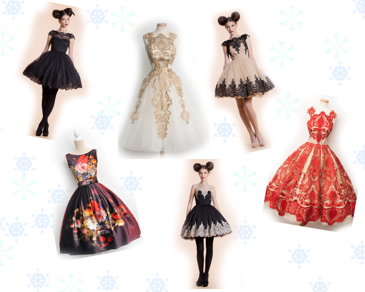 chontronette dress collage
