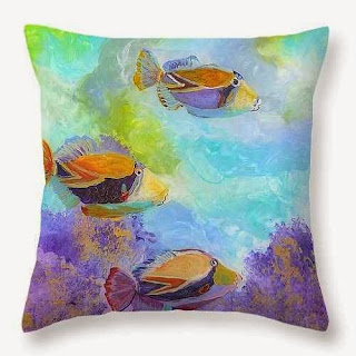 Humuhumu 6 Throw Pillow