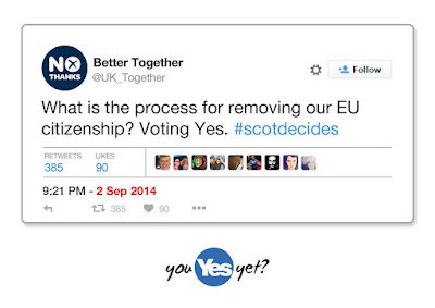 Better Together claim leaving the UK puts Scotland's EU membership in doubt. How is that working out?