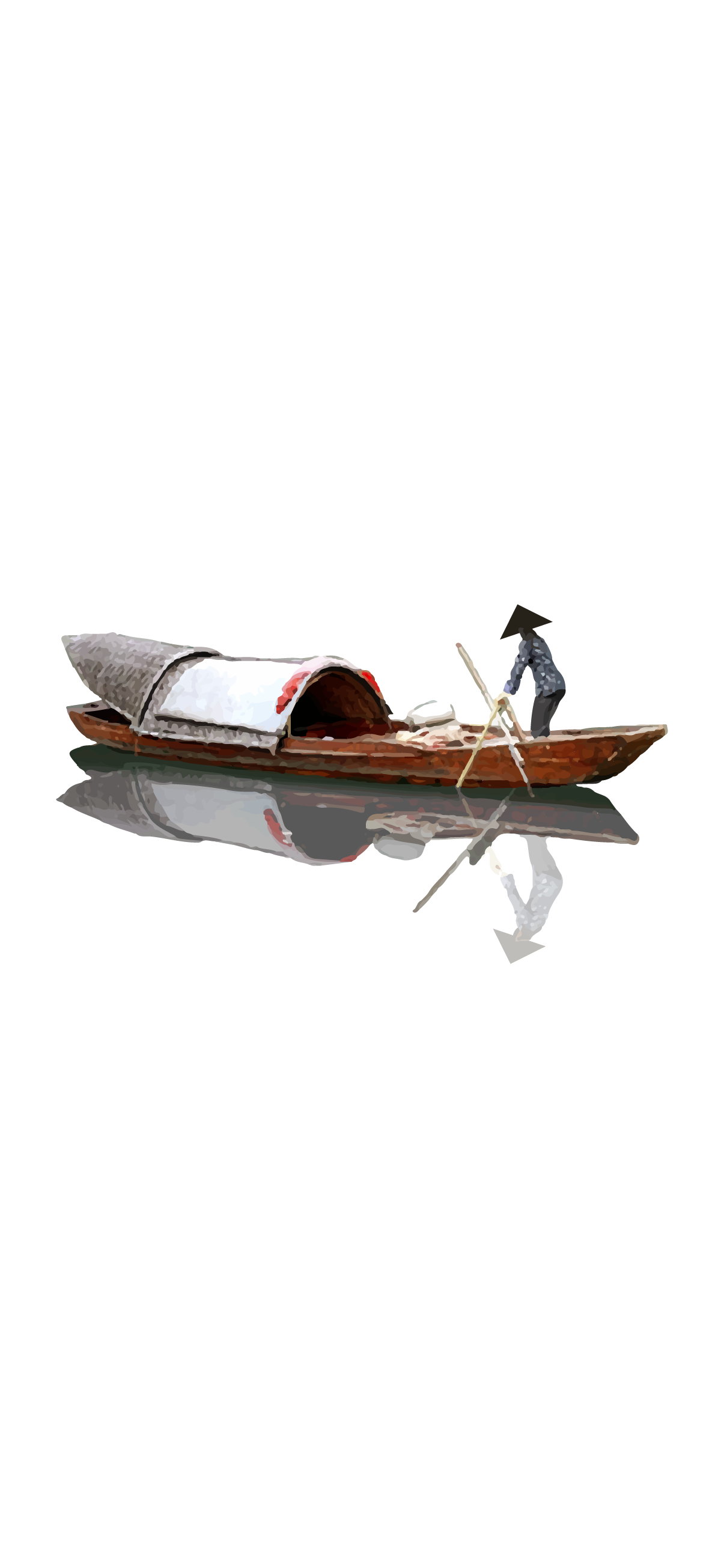 white minimalist canoe boat asian japanese oriental iphone ios android background wallpaper white simple