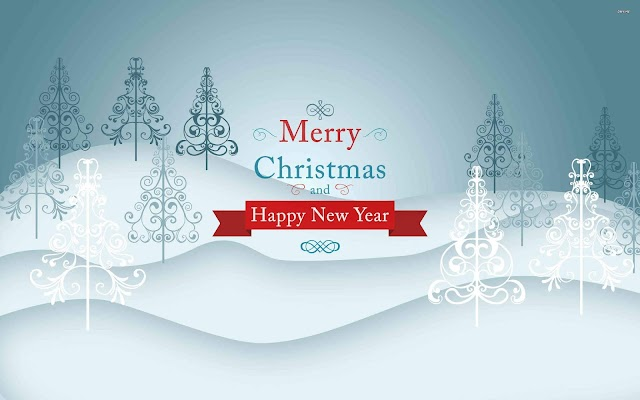 Merry christmas and new year 2019 HD wallpaper