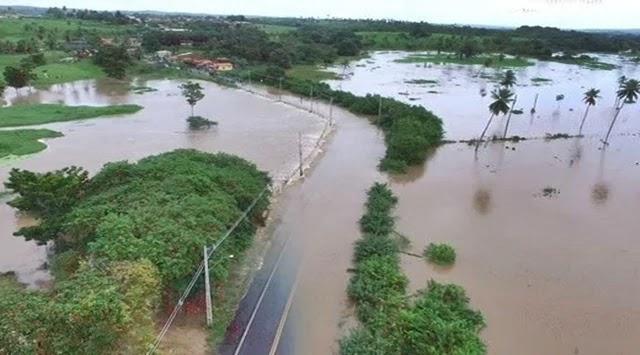 Rio Itapicuru transborda em Conde