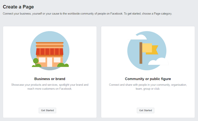 Create business pages for facebook