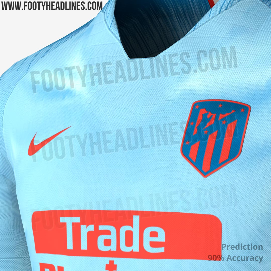 The new Nike Atlético Madrid 18-19 away kit will be based on Nike s new  Vapor Aeroswift 2018 World Cup template 8af438056