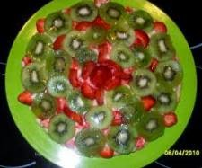 Tarta de kiwis y fresas thermomix