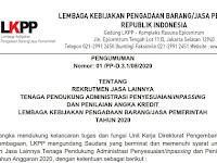Rekrutmen Staf Pendukung Direktorat Pengembangan Profesi dan Kelembagaan LKPP