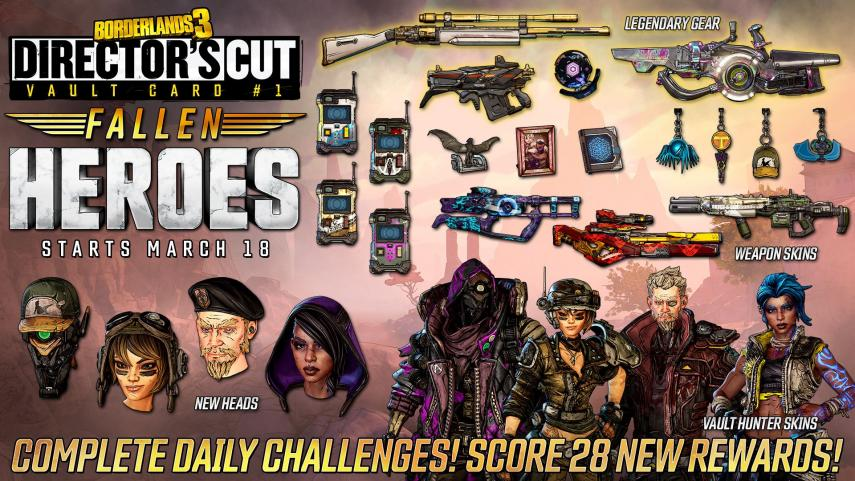 Borderlands 3 Director's Cut will include new Camera Cards and a new progression system
