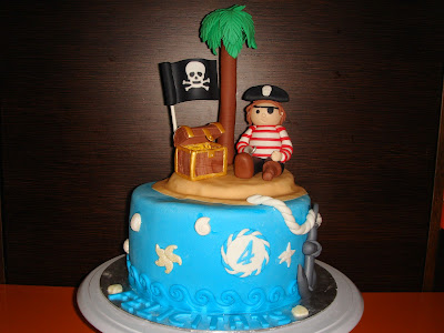 tarta fondant pirata