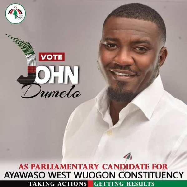 Actress Attacks John Dumelo For contesting on Corrupt NDC tickets