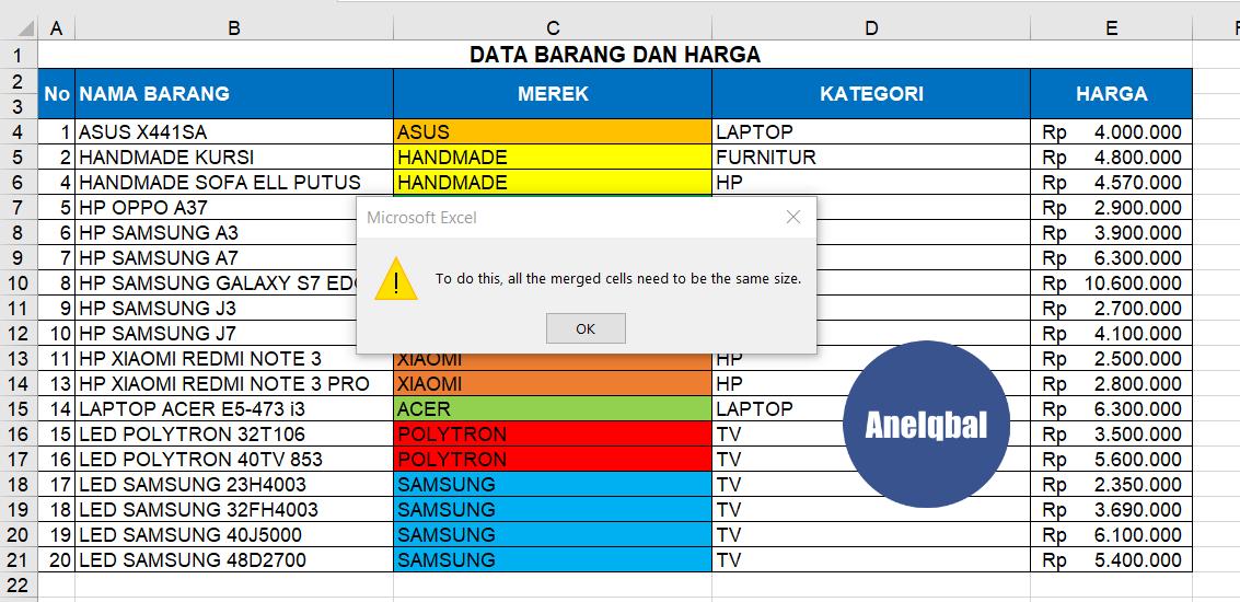 cara mengurutkan data di excel sorting