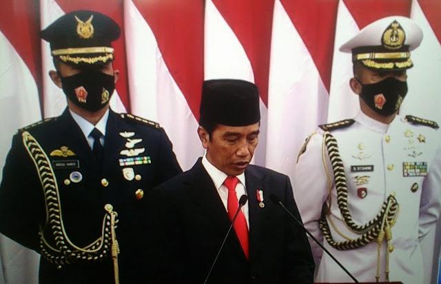 Ini Pidato Lengkap Presiden Jokowi Terkait RAPBN 2021 di Gedung DPR-RI