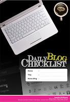 daily blog checklist, buku produktif, blogger produktif