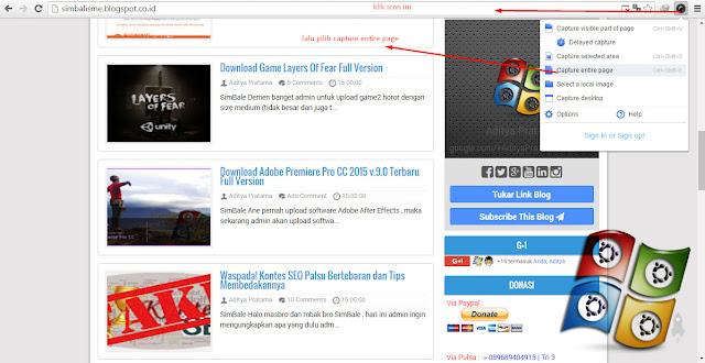 Cara Membuat Screenshot Web FullPage di Google Chrome
