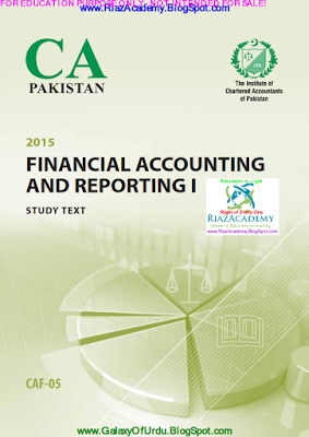 CAF-05 - FINANCIAL ACCOUNTING AND REPORTING I 2015- STUDY TEXT