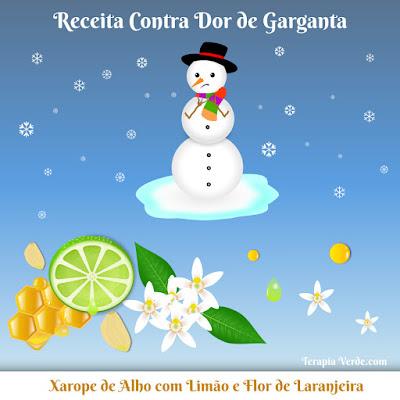 Receita Contra Dor de Garganta: Xarope de Alho com Limão e Flor de Laranjeira
