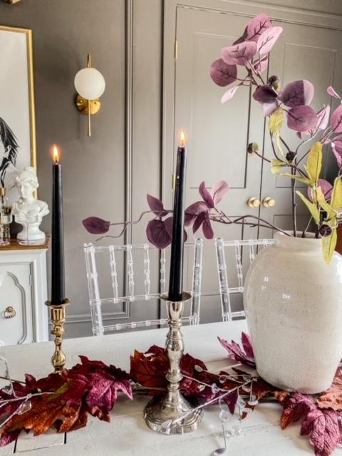 moody fall dining room
