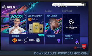 Download FIFA 21 Mod FIFA 14 Lite Android New Kits & Transfers 2021 Offline 800MB HD Graphics