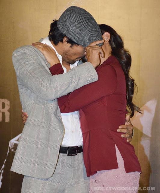 Randeep Hooda and Richa Chadda Kissing in Public