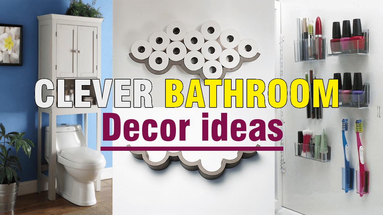 Clever Small Bathroom Decor Ideas via simphome.com