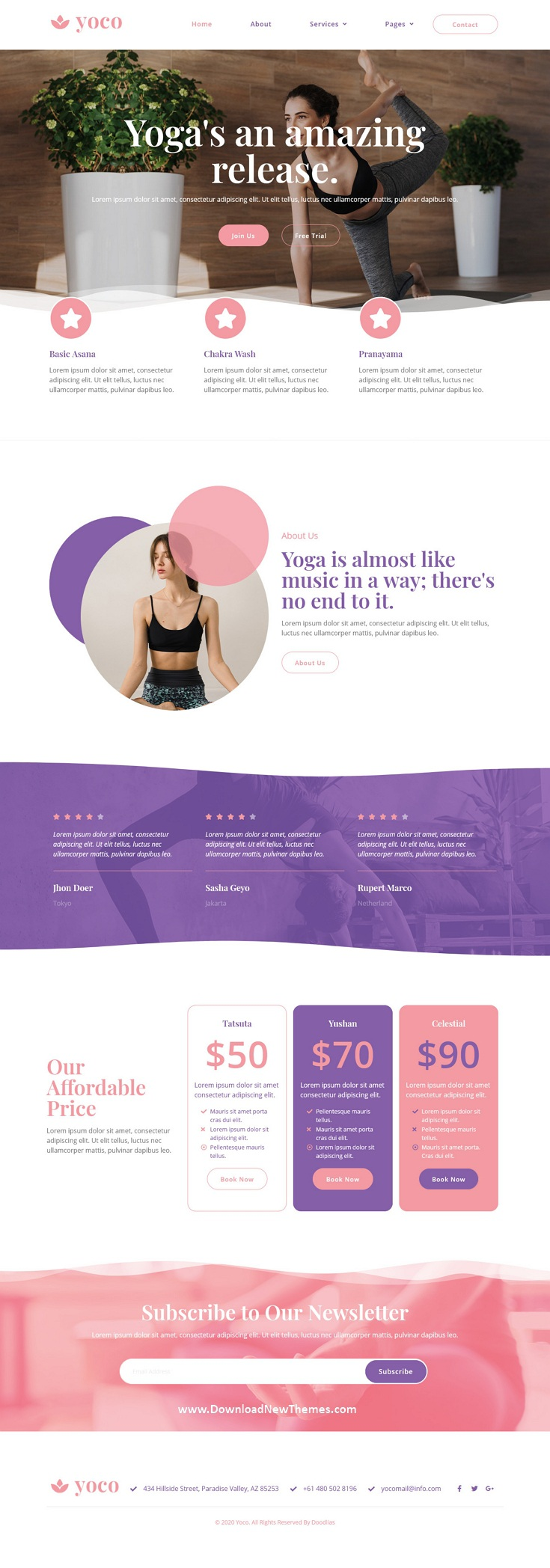 Yoga Studio Elementor Template Kit