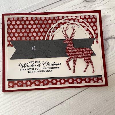 Christmas card with die cut deer using North Pole Wonder Dies