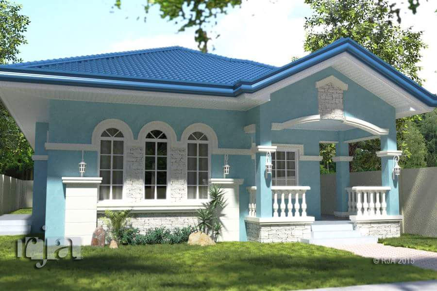 The best bungalow styles and plans in philippines bahay ofw for One and a half story homes
