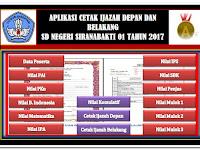 Download Aplikasi Cetak Halaman Depan dan Belakang Ijazah SD/MI Format Excel 2017