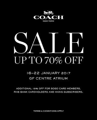 KL SOGO Coach Special Sale Discount Promo