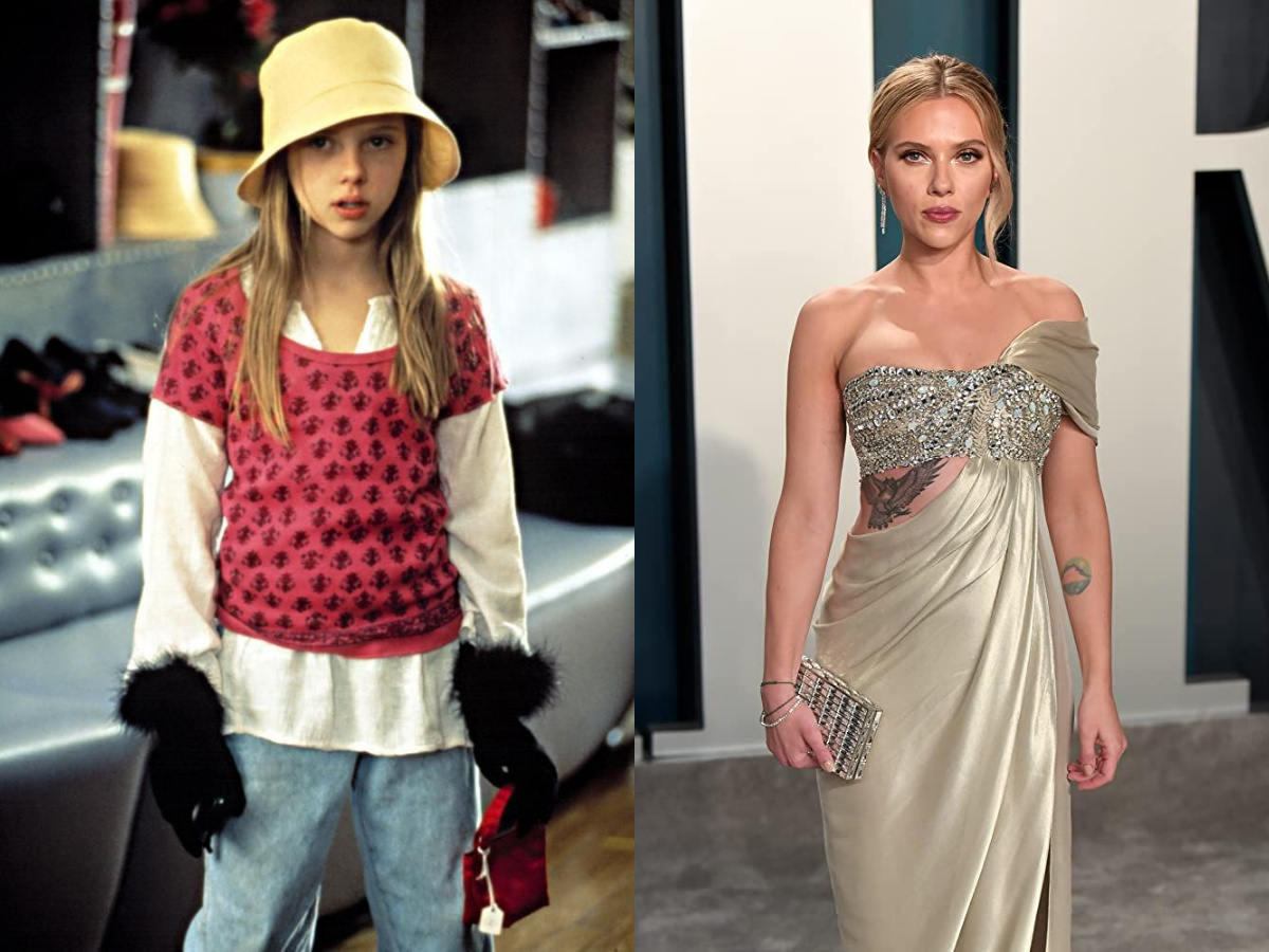 Scarlett Johansson then and now