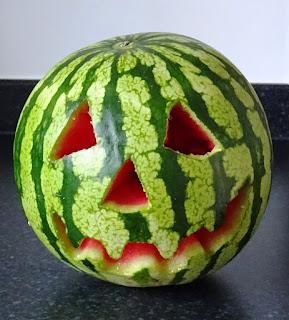 A Summerween Jack-o-Melon