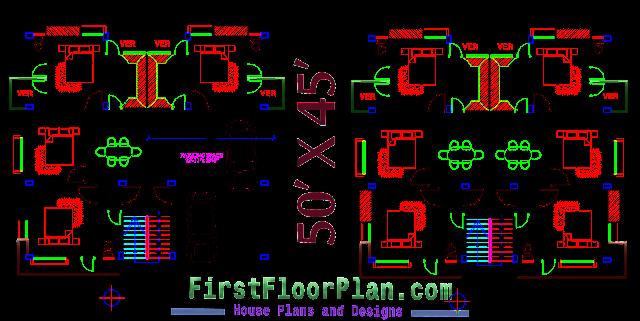 50 X 45 floor plan