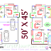 2200 SQ FT Floor Plan - Two Units | 50 x 45